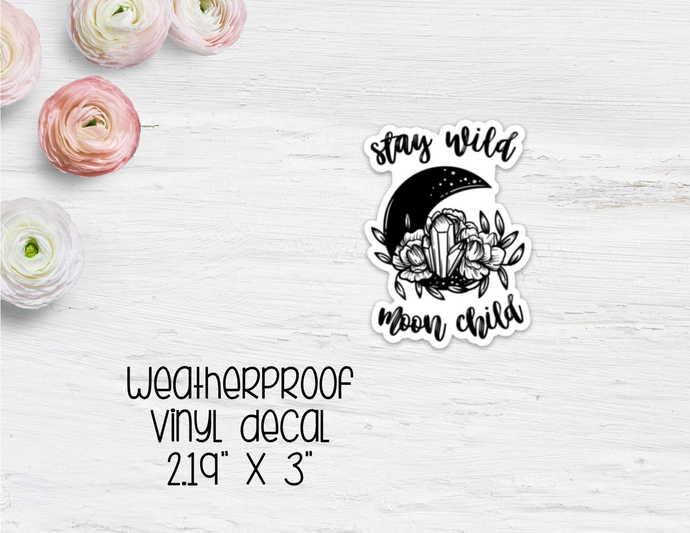 Moon Child Vinyl Sticker