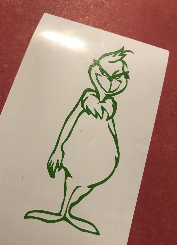 Grinch Vinyl Decal / Sticker  Christmas D.I.Y Project