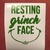 Resting Grinch Face Decal / Sticker