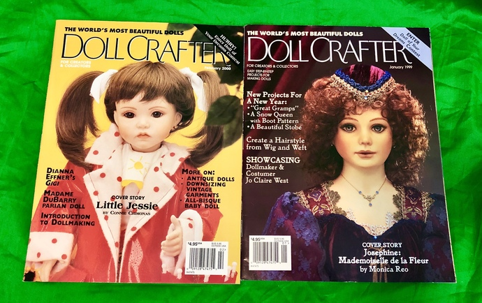 Doll Crafter Magazines, January 2000, January 1999, With Poissot Dress Pattern