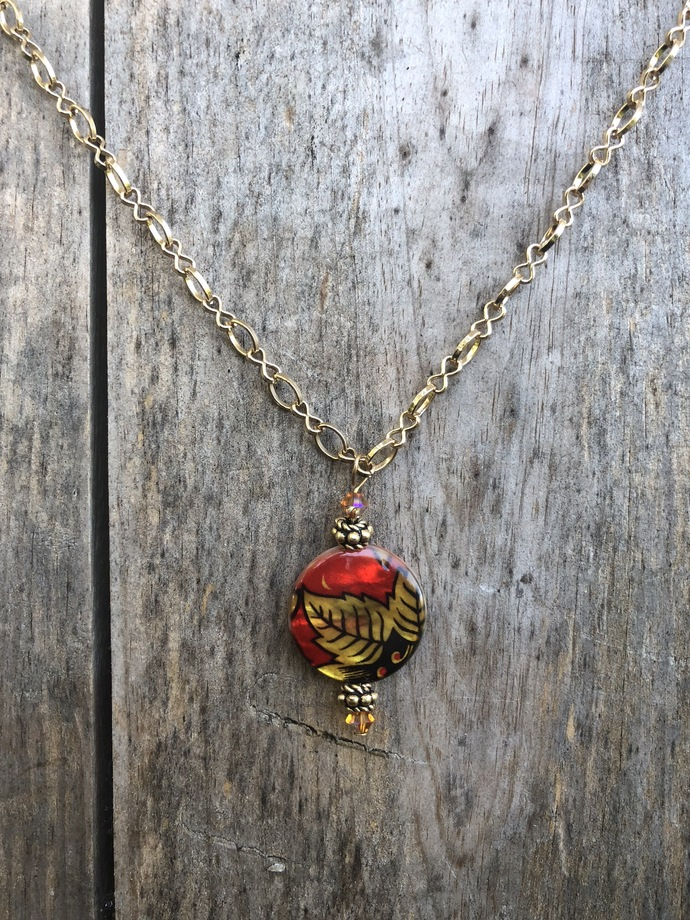 Painted Pendant Necklace
