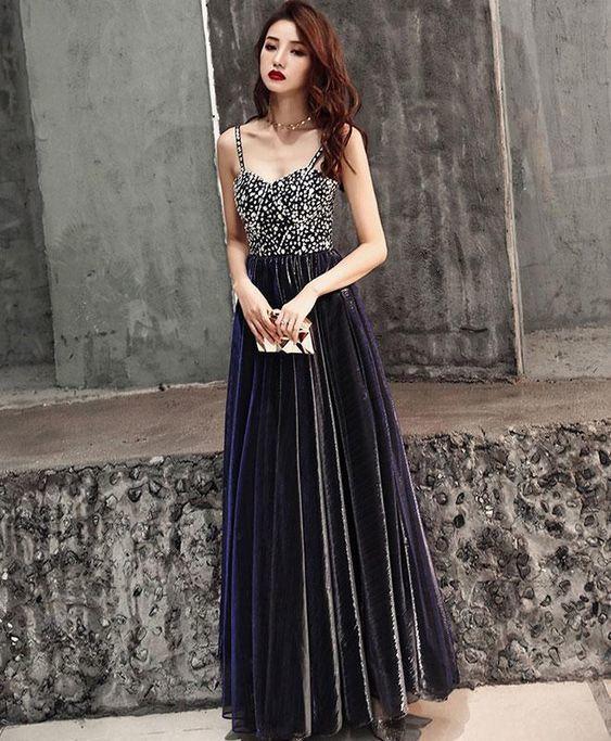 Dark Blue Evening Dress