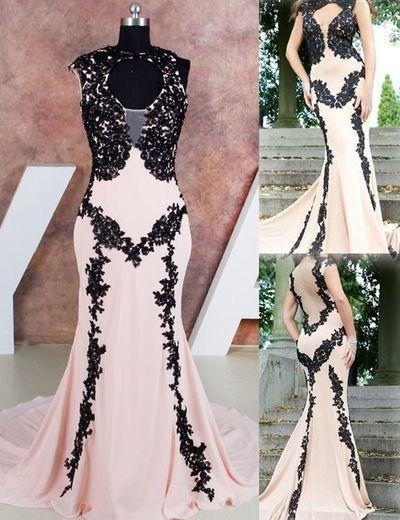 b68bdcdf0f93a Appliques Prom Dress