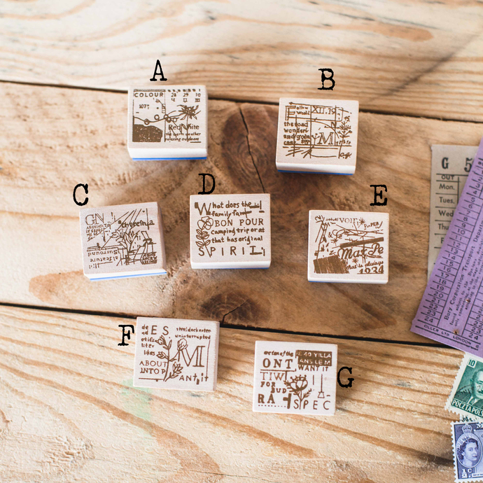 Chamil Garden Flora wooden stamps - perfect for journaling & happy mail -CGF-