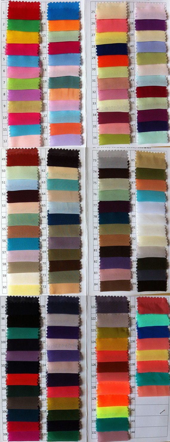 Color Chart --Leave your color name and number in your shopping cart