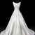 Vintage Ivory Satin Wedding Dress Aline Bridal Dresses Lace Appliques Sweep