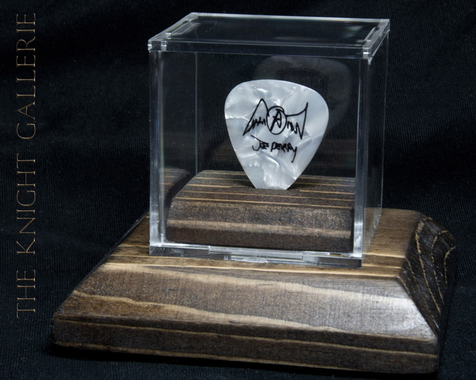 Authentic guitar pick and display case: Joe Perry