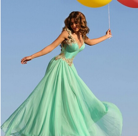 Prom Dresses, Sweetheart Prom Dress, Chiffon Evening Gowns, Backless Evening