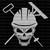 Asphalt Skull Road Construction Vinyl Decal Sticker Asphalt Black Top Tar