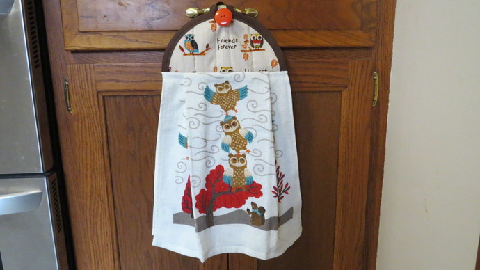 Fall Kitchen Towels Owl Kitchen Towel By Crystalscraftycorner On