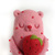Popsicle Bear - Strawberry shortcake, wool plush Art Toy, kawaii bear popsicle