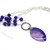 Purple necklace with agate and amethyst. Jewelry with large clasp, Semiprecious