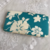 Blue and White Change Purse /  Vintage Tropical Print Wallet