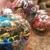 Colorful thread ornaments