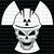 Nuke Skull Nuclear Radiation Symbol Behind and on Hardhat Vinyl Decal with