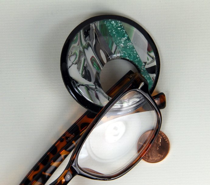 Brooch Eye Glasses Carrier - hand made and one of a kind jewelry art, by