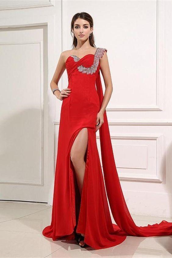 234a3c1c873 Cheap Feminine Prom Dresses Red