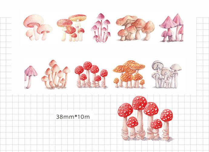 1 Roll of Limited Edition Washi Tape- Toxic Toadstools Mushroom