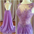 Charming A-line Backless Prom Dress,Beaded Appliques Long Prom Dresses, Formal
