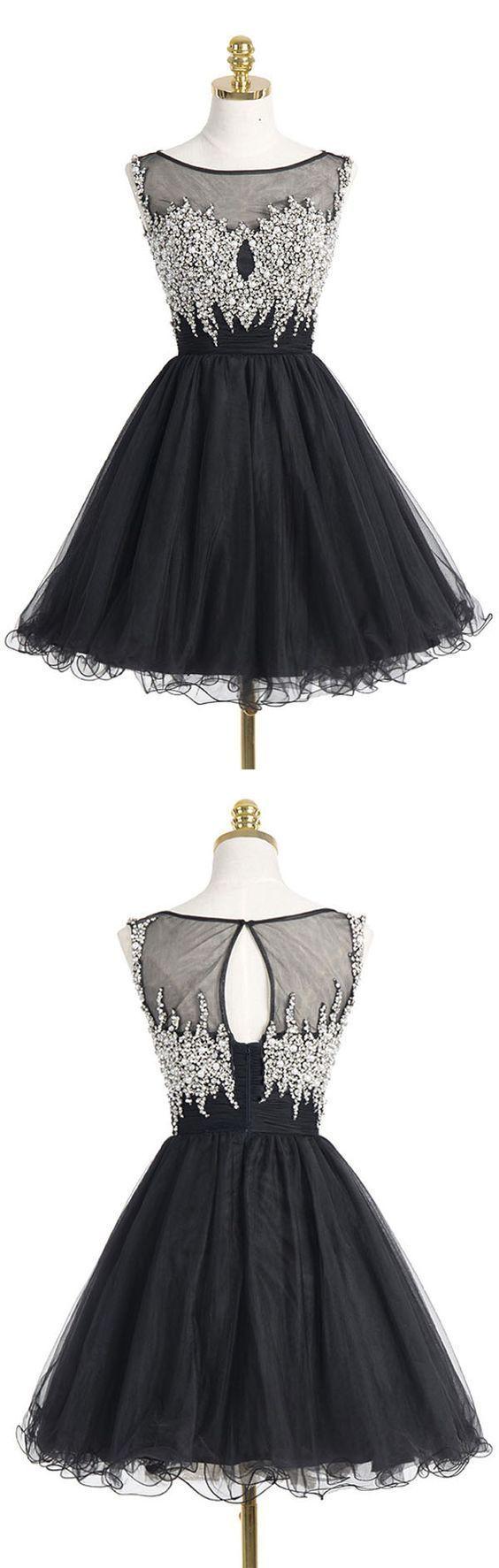 Short Homecoming Dress,Black Homecoming Dress,cute Homecoming Dresses,Short Prom