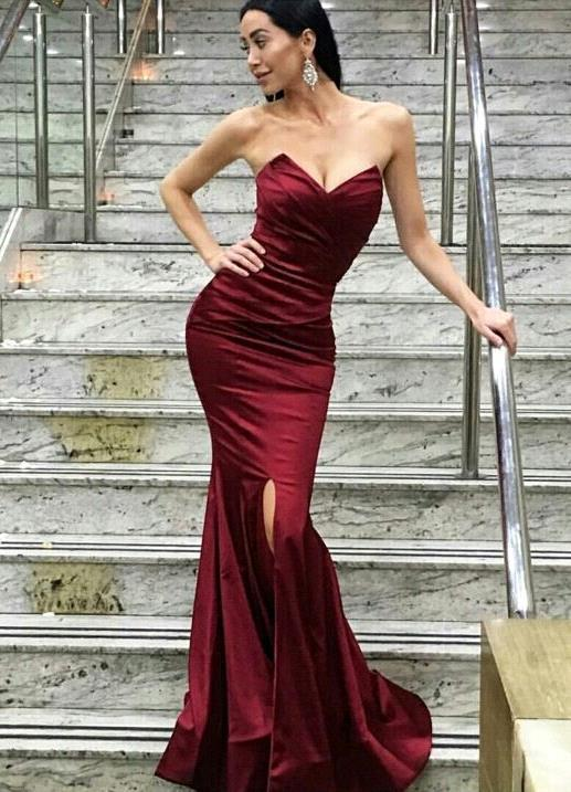 e53f7fa6117d burgundy evening gowns,wine red prom dresses,lace prom dresses,sexy mermaid