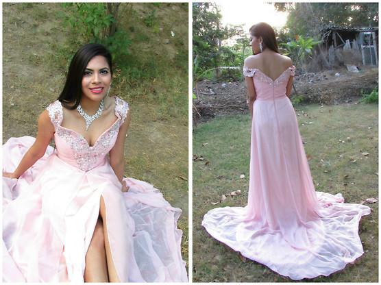 Charming Prom Dress,Long Evening Dress,Off Shoulder Split Side Evening