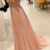 Brilliant Tulle & Chiffon Jewel Neckline Floor-length A-line Evening Dress With