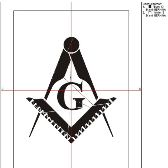 Freemason embroidery design Masonic machine designs pes
