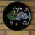 Arabian nights musicians. Black wall plate