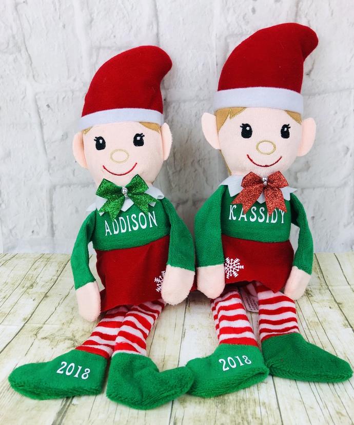 Personalized Christmas Elf Plush Dolls, Boy Or Girl, Santa's Helpers, New, Gift