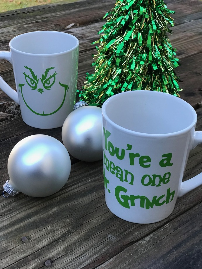 You're a Mean One Mr. Grinch Coffee Mug / Christmas / Holiday Gift