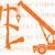 Crane Life Vinyl Decal Sticker Outrigger Boom Lift Construction