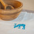 Beautiul linen napkins with elk. Made for cosy family dinner with candles and a