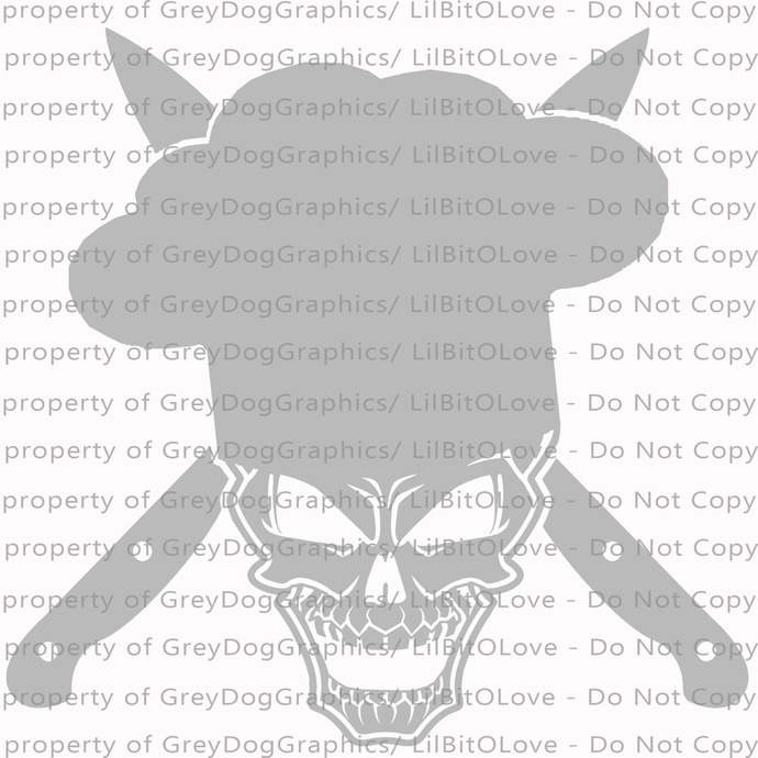 Chef Skull Vinyl Decal Sticker Cooking Cook Chef's Hat Knives