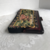Colonial Couple Tapestry Clutch /  Vintage Black Purse with Lucite Clasp /