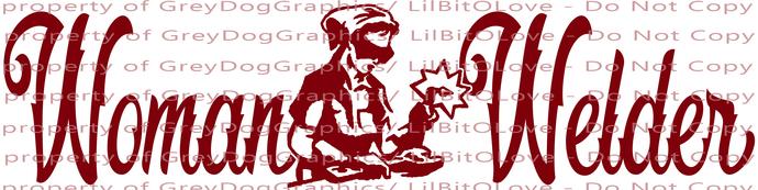 Script Woman Welder Vinyl Decal Welding Sticker Female Girl Lady Weld Profession