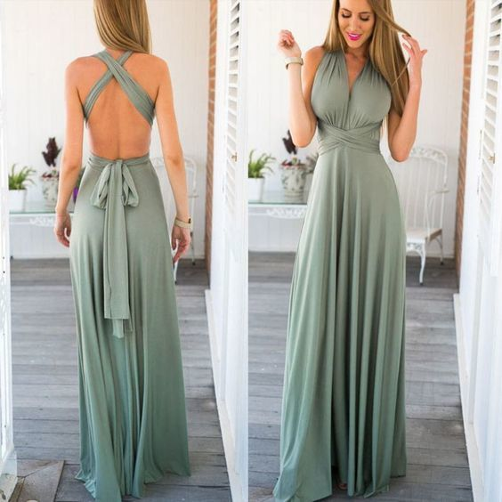 4468f27919c Stylish Open Back Women Long Maxi Dress by DestinyDress on Zibbet