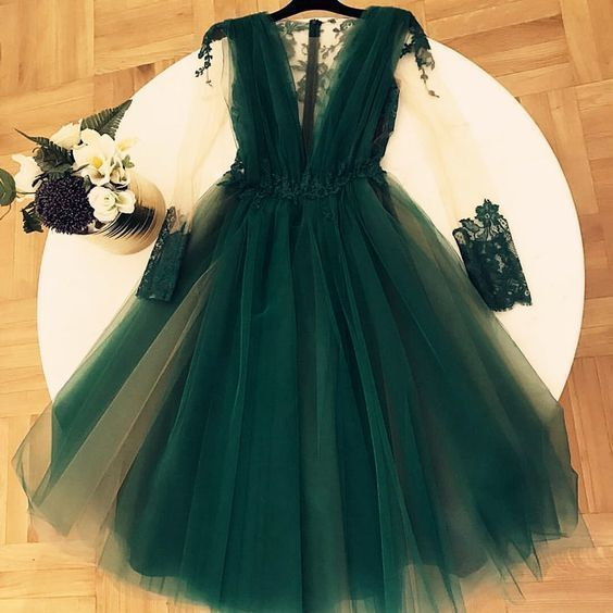 Charming V-Neck A-Line Dresses,Short Prom Dresses,Cheap Homecoming Dresses,