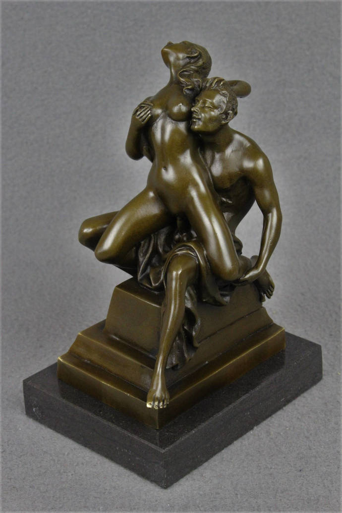 Bronze Sculpture Erotic Art Male and Female Nude Couple Making Love Sexy Naughty