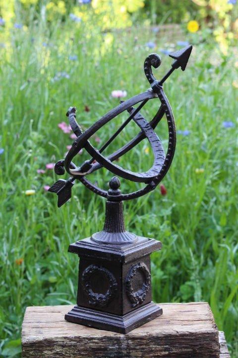 Cast Iron Garden Sundial Table Model Small bronze finish vintage French Italian