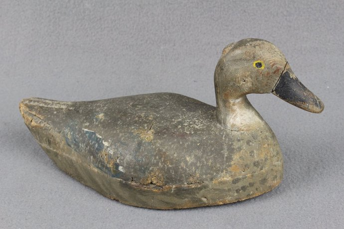 Antique Painted Cork Duck Hunting Decoy circa 1920