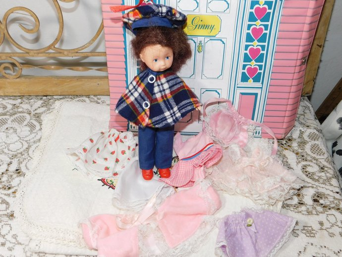 Vogue Vintage Ginny Doll and House Carrying Case 1979, Vintage Doll and Case,
