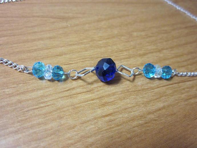 """Blue and Aqua Necklace - 20"""""""