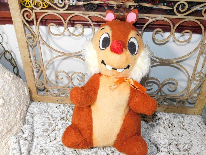 Dale Chipmunk Disney, Vintage Stuffed Animal, Disney Chipmunks, Chipmunk,