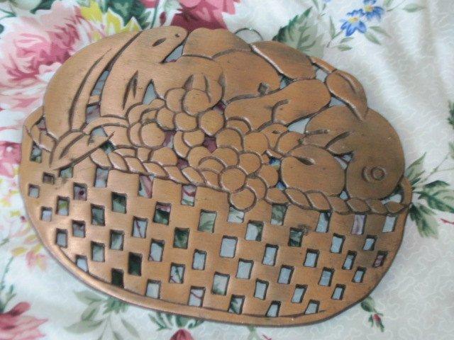 Trivet, Copper Hot Trivet for Table, Table Trivet, Vintage Kitchen Decor,