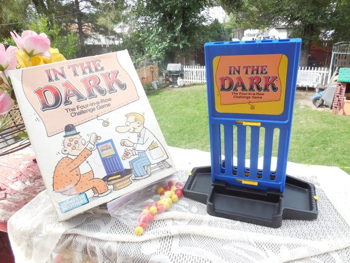 In The Dark Game Challenge Game, Marble Game, Vintage board game, Vintage Game,