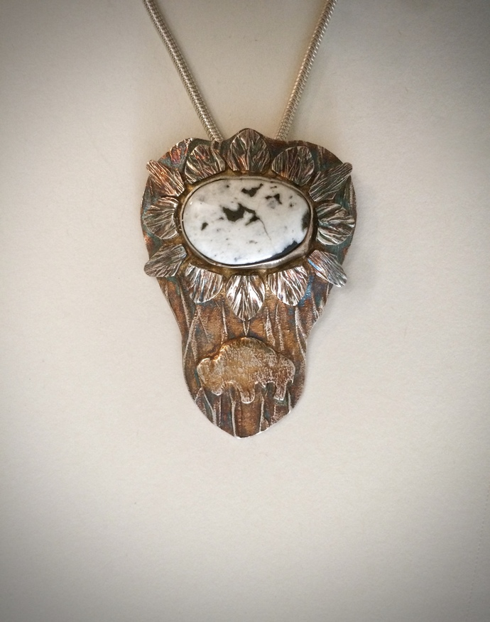White buffalo, bison necklace, buffalo necklace, one of a kind, unique jewelry,