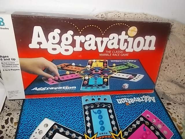 Aggravation Game, Marble Game 1989, Vintage Board Game, Family Game Night, Toys,