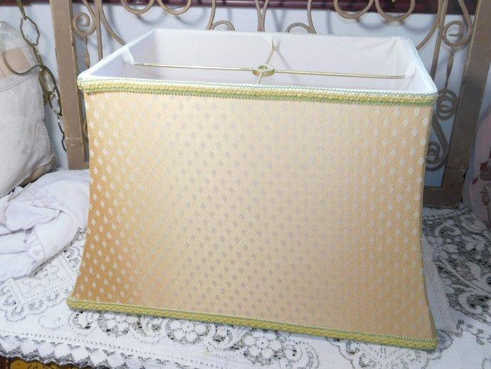 Lamp Shade Cloth, Cloth Lamp Shade, Vintage Lamp Shade, Vintage Gold Color Lamp
