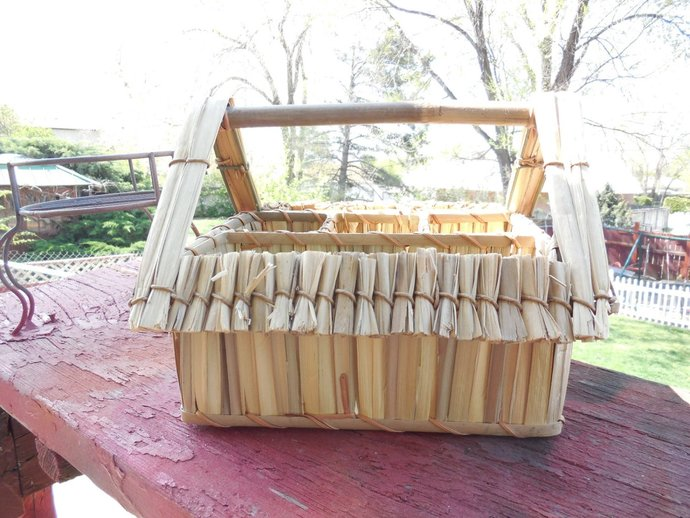 Caddy, Bamboo House Caddy for Napkins and Silverware, Picnics, Barbecue, Utensil